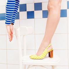 fece6b4b56ee Sarenza collection Sarenza-Les-Flots striped yellow women s heels