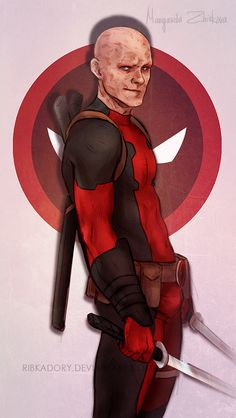 when drawing isn't working, draw your fave dude decided to try out Ryan Reynolds' version of Deadpool, i draw him a little bit differently (wider jaw, broken nose etc). I have a we...