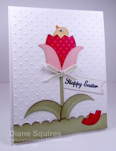 Stampin' Up!  Bird Punch  Diane Squires  Easter Tulip Peep