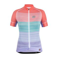 Giordana 2016 Women s Pesca FRC Trade Short Sleeve Cycling Jersey - (Pesca  - Pink Mint Purple (Pesca - Pink Green Purple) - M) 9b77f3232