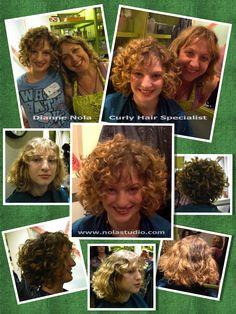 Curly Hair Artistry Symposium Atlanta, GA 2013  Embrace your beauty! Dianne Nola | Hair Stylist www.nolastudio.com Wavy Hair 2c, Curly Hair Salon, Fine Curly Hair, Hairstyles Over 50, Curled Hairstyles, Straight Hairstyles, Curly Hair Specialist, Curly Layers, Deva Cut