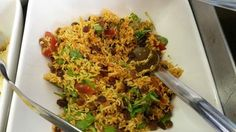 Moroccan Rice from Aberystwyth Arts Centre café. Healthy, colourful salad.