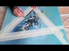 NEW Abstract Acrylic Painting Demo - Shadow Triangle - How to paint easy - Galaxy Painting - Step By Step Acrylic Painting Tutorial Acrylic Painting For Beginners, Simple Acrylic Paintings, Acrylic Painting Techniques, Art Paintings, Acrylic Pouring Art, Acrylic Art, Acrylic Painting Canvas, Canvas Art, Galaxy Painting