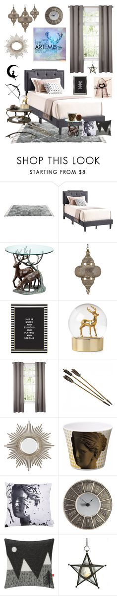 """""""Artemis Cabin"""" by stephzph on Polyvore featuring interior, interiors, interior design, home, home decor, interior decorating, Kate Spade, Sophia, Bow & Arrow and Donna Wilson"""