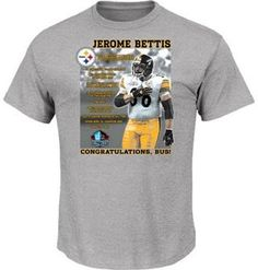 Jerome Bettis Steelers Hall of Fame Photo Tee