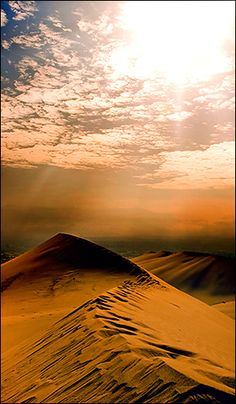 A beautiful picture of a dune in Ica, #Peru - #travel #desert