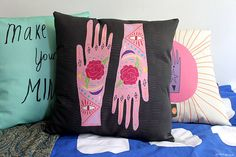 Nicola Rowlands/MsSpanner - Lucky Hands pillow
