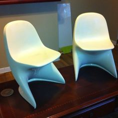 Mid Century Modern Casalino Panton Childs Chairs. Vintage