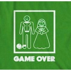 """""""Game Over"""" Funny Marriage T-Shirt"""