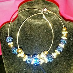 Big hoop earrings Got this made for me to go with a top.Worn once..They are breath taken. Jewelry Earrings