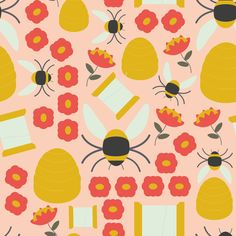Sewing Bee fabric by ms_jenny_lemon on Spoonflower - custom fabric