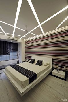 Staggering Tips: L Shaped False Ceiling Design contemporary false ceiling decoration.L Shaped False Ceiling Design. House Ceiling Design, Ceiling Design Living Room, Bedroom False Ceiling Design, New Bedroom Design, Ceiling Light Design, Home Ceiling, Bedroom Ceiling, Bed Design, Modern Bedroom