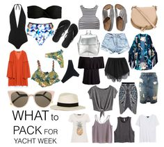 Your essentials for an island hopping week ; Croatia Yacht Week, Vacation Outfits, Summer Outfits, Vacation Ideas, Bvi Sailing, Yacht Vacations, Sailing Holidays, Beach Essentials, Travel Essentials