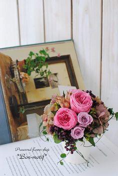 母の日のお花・・たくさんのご注文ありがとうございました! の画像|プリザーブドフラワー専門ショップ *Bon-motif* ボンモチーフ