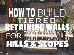 : How to build tiered retaining walls for front & backyard hills and slopes? Ideas Ryan's La http://youtu.be/JHyUvvee8YA?a                                                                                                                                                                                 More