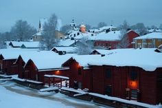 All Things Finnish Christmas Town, Winter Scenery, Finland, Snowy Pictures, Beautiful Places, December, Environment, City, Outdoor