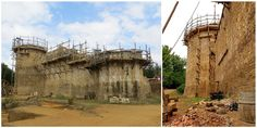 The Guédelon Castle is being built like it's the 13th century, using the same methods used in the Middle Ages