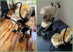 Straight from my blog - Mico AP Maxi Cosi car seat in buttercream and Quinny Zapp Xtra 2013 in Mavis color