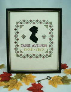 Jane Austen Silhouette - Phoenix Needlecraft www.phoenixneedlecraft.co.uk