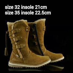 READY STOCK KIDS LEATHER BOOTS KODE : HAVANA BROWN Size 32,35 PRICE : Rp.225.000,- AVAILABLE SIZE (insole) : - Size 32 (21cm) - Size 35 (22,5cm)  Material : Full Leather (Genuine Leather/Kulit Asli),Sol karet lentur. Ringan dan nyaman sesuai utk anak balita.  Insole = panjang sol dalam. Ukurlah panjang telapak kaki anak, beri jarak minimal 1,5cm dari insole.  FOR ORDER : SMS/Whatsapp 087777111986 PIN BB 766A6420 Facebook : Mayorishop  #pusatsepatubootsanak #readystock #sisaekspor…