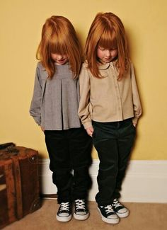 What could get better?  Twins, girls, and RED hair... adorable, beautiful...