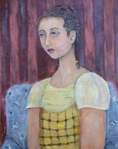 Original oil painting Sir Leighton's Daughter on by LisaGrahamArt