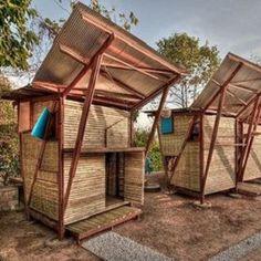 Arquitetos criam orfanato de bambu para crianças refugiadas na Tailândia