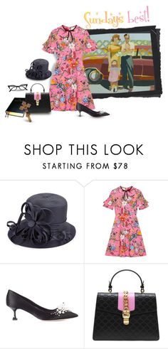 """Sunday morning"" by hotpinkolive ❤ liked on Polyvore featuring Giovannio, Gucci, Miu Miu and Retrò"