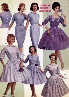 Lana lobell catalog, spring 1961 minx in mauve ретро мода, п Ad Fashion, Fashion Catalogue, Fashion History, Look Fashion, Retro Fashion, Vintage Fashion, 1960s Fashion Women, 1960s Dresses, 1950s Fashion Dresses