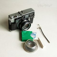Vintage 60s FUJICA 35 EE Rangefinder Camera Instructions Accessories by UpStagedVintage on Etsy