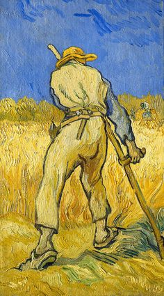 Vincent van Gogh Online, The Reaper, Oil Paintings Only For Art Lovers! This is a non-profits site and shows all the paintings of Vincent van Gogh's art works. Vincent Van Gogh, Van Gogh Art, Art Van, Van Gogh Pinturas, Van Gogh Paintings, Famous Art Paintings, Post Impressionism, Dutch Artists, Claude Monet