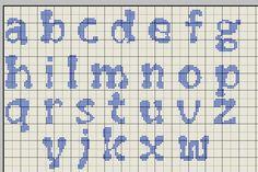 Schemi punto croce di alfabeti e iniziali | Alfabeto flubber minuscolo | Foto