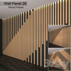 models: Other decorative objects - Wall Panel 26 Wood Slat Wall, Wooden Wall Panels, 3d Wall Panels, Wood Slats, Wooden Walls, Wood Paneling, Modern Wall Paneling, Decorative Wall Panels, Feature Wall Design