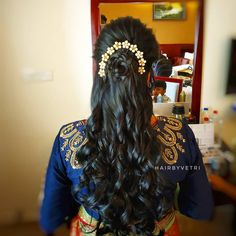 Rose hair style by Vetrihair and Makeup  #indianbridalhairstyle #indianweddinghairstyle #hairstylesofindia #receptionhairstyle #southindianhairstyle #southasianhairstyle #asianhairstyle #telugubride #hindubride #indianbride