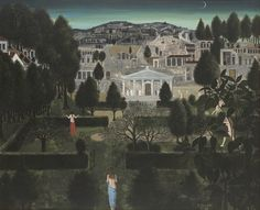 Less than a month before Brafa 2017 opens! Galerie Harold t'Kint Fine Arts will feature 'The gardens of Alexandria', a dreamy nightscape painted in December 1960 by the great Belgian Surrealist Paul Delvaux (1897-1994).