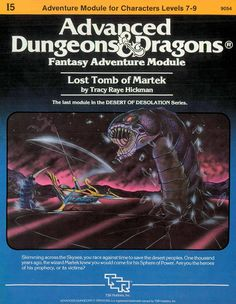 I5 Lost Tomb of Martek (1e) | Book cover and interior art for Advanced Dungeons and Dragons 1.0 - Advanced Dungeons & Dragons, D&D, DND, AD&D, ADND, 1st Edition, 1st Ed., 1.0, 1E, OSRIC, OSR, Roleplaying Game, Role Playing Game, RPG, Wizards of the Coast, WotC, TSR Inc. | Create your own roleplaying game books w/ RPG Bard: www.rpgbard.com | Not Trusty Sword art: click artwork for source