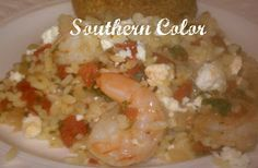Southern Color: Shrimp with Orzo