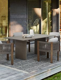outdoor Concrete Outdoor Dining Table, Outdoor Dining Furniture, Outdoor Dining Set, Dining Chair Set, Outdoor Sofa, Modern Furniture, Outdoor Tables, Dining Sets, Patio Dining