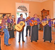 A Mariachi group performing in the lobby during the Castaneda Under the Stars event in 2019