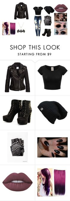 """""""leather"""" by bring-me-the-sirenz on Polyvore featuring Anine Bing and Lime Crime"""