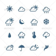 Weather Icons Set of Weather icons http://startupstacks.com/icons/weather-icons-6.html - free download