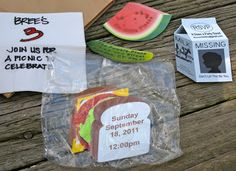 a. party style: picnic invitations
