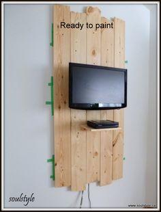 Pine plank wall shelf