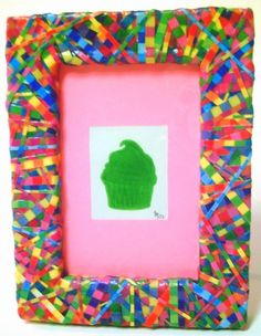 Multicolored Decoupage Photo Frame