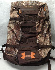 huntin camo backpacks   Under Armour Multi Day Deer Hunting Backpack Bag Mossy Oak Camo   eBay