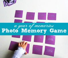 Great game for New Year's Eve ! Turn photos of your best 2012 memories into a simple match game to play with your kids. { How do you ring in the new year with your kids?}