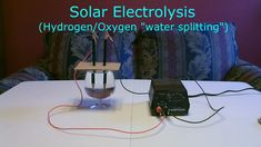 """Solar Hydrogen/Oxygen Generator DIY - Simple """"Electrolysis"""" using sunlight! (turns water into fuel) Science Chemistry, Solar Panels, Homeschool, Sunlight, Simple, Charger, Diy, Water, Bricolage"""