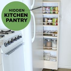 This hidden pantry is perfect for small apartments lacking storage.