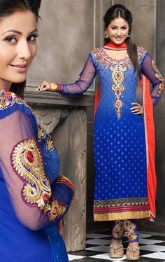 Picture of Dazzling Blue Color Lovely Salwar Suit
