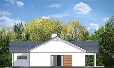 Projekt domu Parterowy 4 122,77 m2 - koszt budowy 218 tys. zł - EXTRADOM 3 Bedroom Bungalow, Landscaping Around House, Kansas City Missouri, Solar Panels, Shed, Villa, Outdoor Structures, Landscape, House Styles